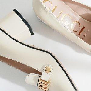 定价优势+7.5折+晒单抽奖Gucci 美鞋热卖 经典运动鞋、Sylvie乐福鞋$299 (原价$890)