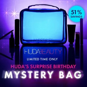 4.9折!$95(原价$197)上新:Huda 生日神秘礼盒套装 含6个她的必备产品 超值入手
