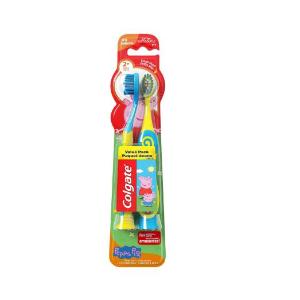 $4.77 原价$7.49Colgate 儿童超软小猪佩奇牙刷两个装 带吸盘