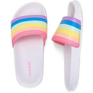 儿童彩虹拖鞋