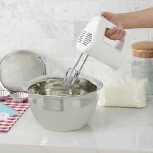 $8.88Mainstays White 150-Watt 5-Speed Hand Mixer with Chrome Beaters @ Walmart