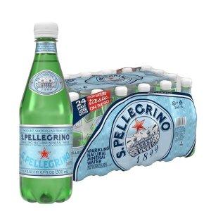 $12.59 每瓶仅$0.52S.Pellegrino 圣培露意大利气泡矿泉水16.9oz装 24瓶