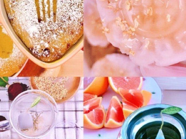 暖心甜品 | 抹茶红豆蒸面包、桂花...