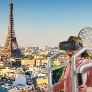 现价€12.9(原价€17)Flyview飞越巴黎 VR空中观光体验 360度全景观赏