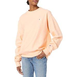 $15.34收封面奶油杏子色Champion 小logo长袖上衣 双色可选 春夏一件百搭
