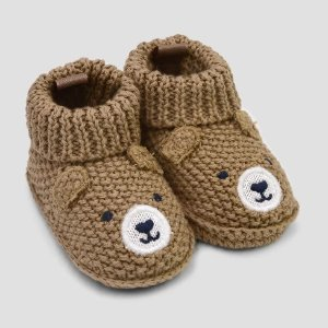 54d9a0234f9a0 Baby Boys  Knitted Bear Slipper - Just One You® made by carter s Brown  Newborn
