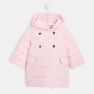 粉色羽绒服
