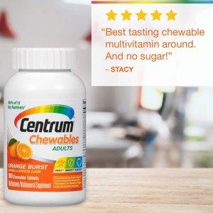 $8.78Centrum Adult (100 Count) Multivitamin Chewable Tablet, Vitamin D3