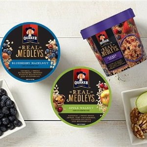 Quaker Real Medleys Oatmeal Variety Pack 12 Cups