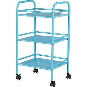 $8.46Staples 3 Shelf Rolling Cart, Light Blue