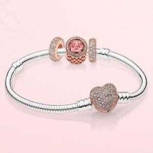 银色玫瑰金色2种可选Pandora 母亲节活动 满$150送特别款手链