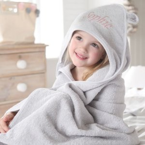 My 1st YearsPersonalized Large Gray Hooded Towel