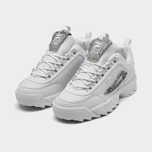 FilaWomen's Fila Disruptor 2 Snake Accent Casual Shoes