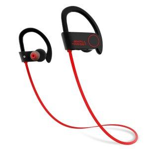 $7Small Target Wireless Sport Earphones w/Mic IPX7 Waterproof