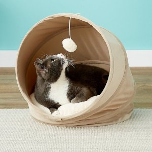 Frisco Foldable Canopy Cat Bed, Sandy Beige - Chewy.com