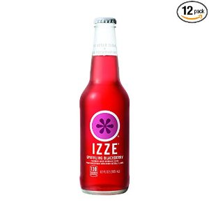 IZZE Sparkling Juice, Blackberry, 12 oz Glass Bottles, 12 Count