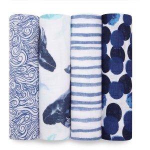 aden + anais柔软小毯子 4条装