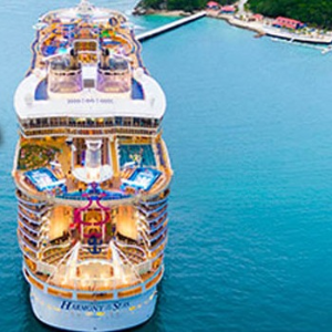 $268起 + 额外赠送$1000船上消费皇家加勒比邮轮全线大促 第二名乘客5折起 3/4名7.5折起