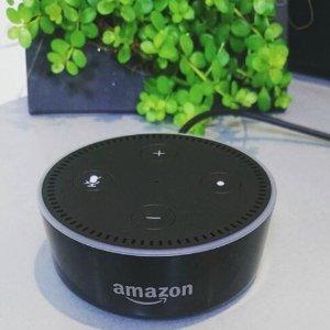 $44.99(原价$69.99)Echo Dot Alexa语音助手蓝牙音箱 2代