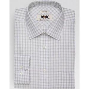 Joseph AbboudOlive Check Dress Shirt - Men's Shirts