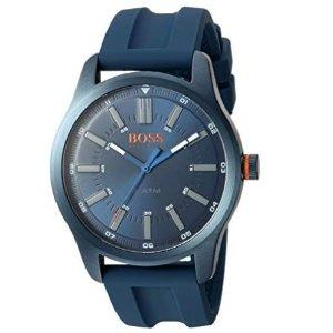 $68.39(原价$95)HUGO BOSS 男士44mm腕表,不锈钢表身,橡胶表带