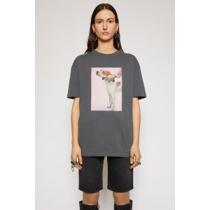 Acne StudiosDog-patch t-shirt Slate grey