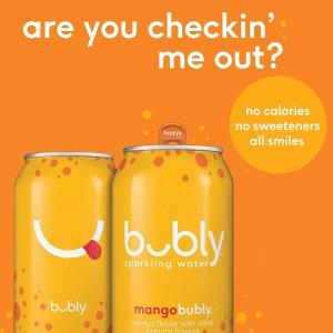 每罐仅$0.3白菜价:Bubly 气泡水 多款热销口味 54罐