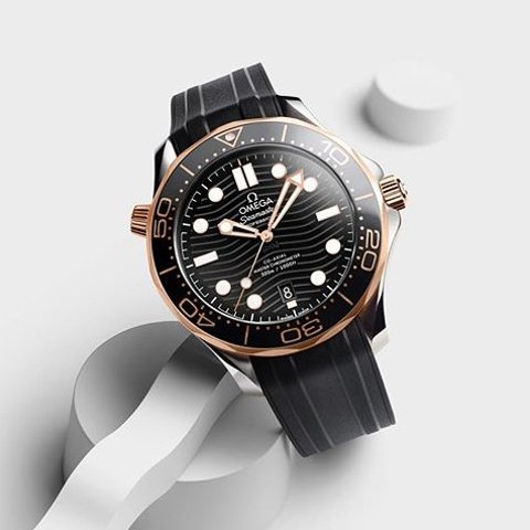 Extra $100 OffDealmoon Exclusive: OMEGA Seamaster Automatic Steel & 18kt Sedna Gold Men's Watch