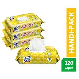 LYSOL 柠檬香型消毒湿巾热卖 80片x4包