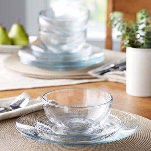 Mainstays 超美玻璃餐具12件套