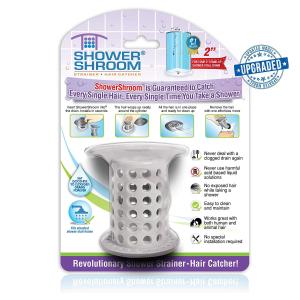 $12.74(原价$18.99)ShowerShroom 第二代直立式浴室头发过滤器特卖