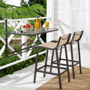 $56.96Mainstays Crowley Park 3-Piece Outdoor Bar Set with Fold-Down Table