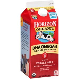 Horizon Organic Vitamin D DHA Whole Milk, Half Gallon - Walmart.com