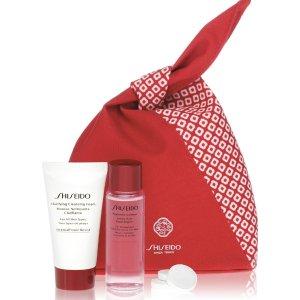 限时7折 €15收封面洁面3件套Shiseido 资生堂 捡漏节日套装 超值收红腰子精华、盼丽风姿等