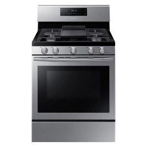 史低价:Samsung 30英寸独立式不锈钢自清洁煤气炉烤箱一体机