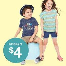 $4起Target 自营童装品牌 Cat & Jack 促销 超高性价比