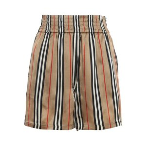 Burberry条纹短裤