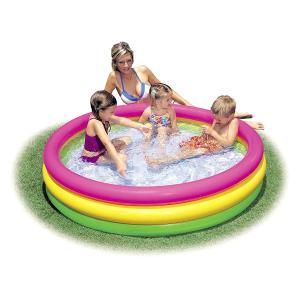 $16.95 (原价$49.99)Intex 57422NP 儿童彩色充气游泳池/戏水池