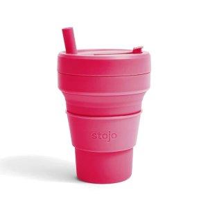 stojo枚红可折叠吸管杯 473ml
