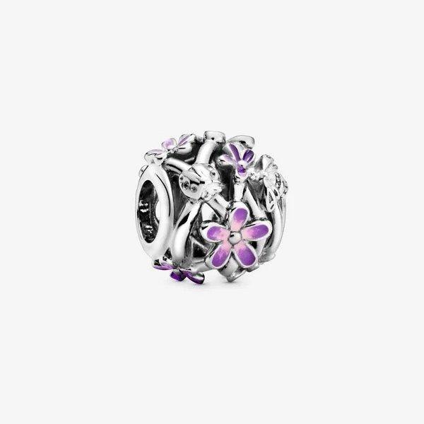 紫色花朵串珠