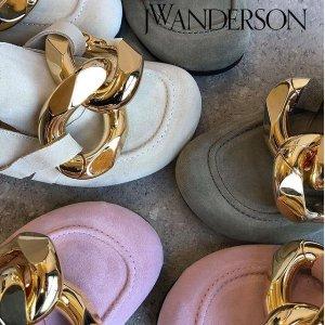 3.8折起 船锚芭蕾鞋$281再降价!JW Anderson 网红款 粗金链穆勒鞋博主都在穿