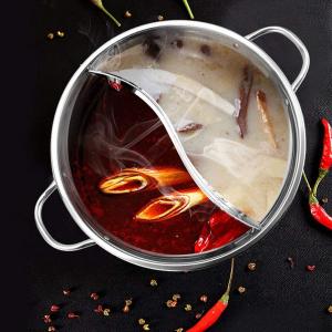 仅售€9.45JADE TEMPLE 不锈钢鸳鸯锅 冬天就要吃暖暖的火锅呀