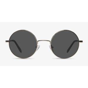 EyeBuyDirectGuru | Light Golden Metal Sunglasses | EyeBuyDirect