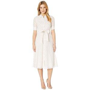 Lauren Ralph LaurenStriped Belted Shirtdress