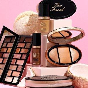 满$75减$20 相当于低至7.3折限今天:Too Faced 美妆护肤劳工日闪促 收蜜桃粉底、眼影盘