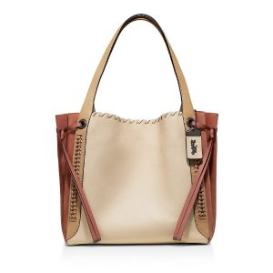 Coach1941 Whipstitch Color-Block Mixed Leather Harmony Hobo