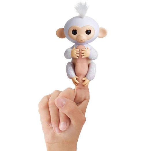 Fingerlings 闪亮版手指猴电子宠物 触控智能玩偶 - Amelia