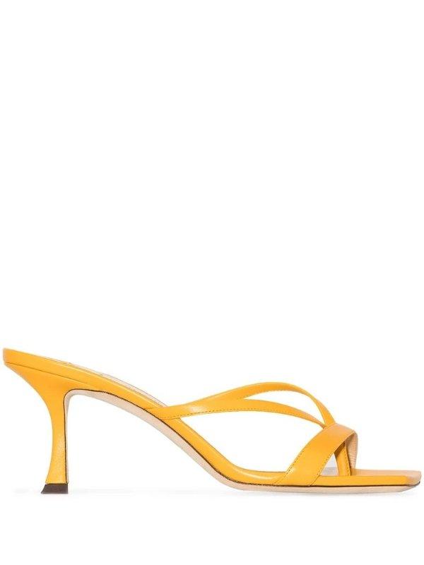 Maelie 70柠檬黄高跟鞋