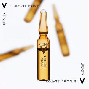 Vichy含多重胜肽与12%维C 重塑肌肤弹力网反重力胜肽安瓶