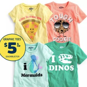 $5 and Up + Fun CashTee Doorbuster Sale @ OshKosh BGosh